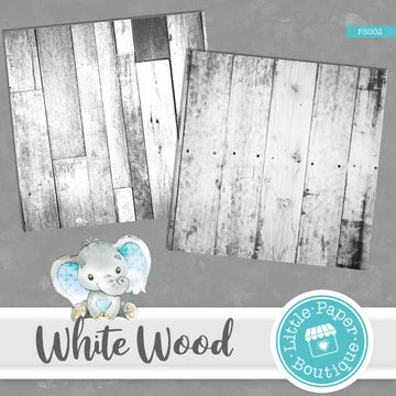 White Rustic Wood Digital Paper PS002