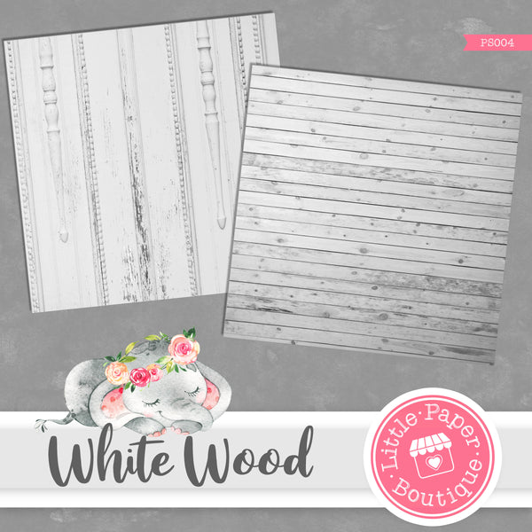 White Wood Digital Paper PS004
