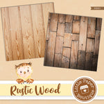 Brown Rustic Wood Digital Paper PS007