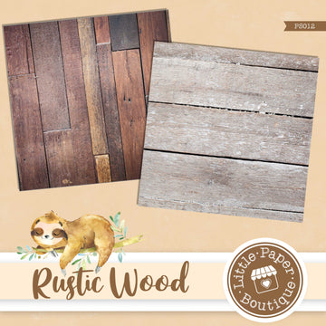 Natural Rustic Wood Digital Paper PS012