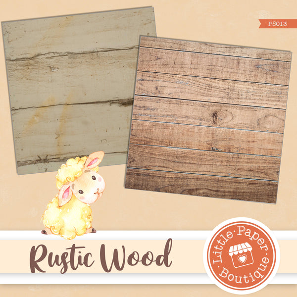 Shabby Chic Wood Digital Paper PS013