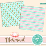 Mermaid Scales Digital Paper PS016