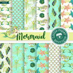 Mermaid Scales Digital Paper PS018