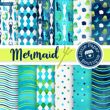 Mermaid Scales Digital Paper PS024