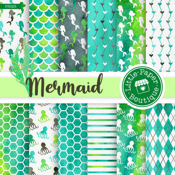 Mermaid Scales Digital Paper PS025