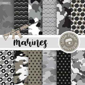 Marines Military Digital Paper PS027