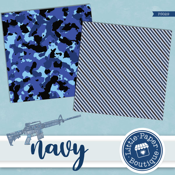 Navy Military Digital Paper PS029