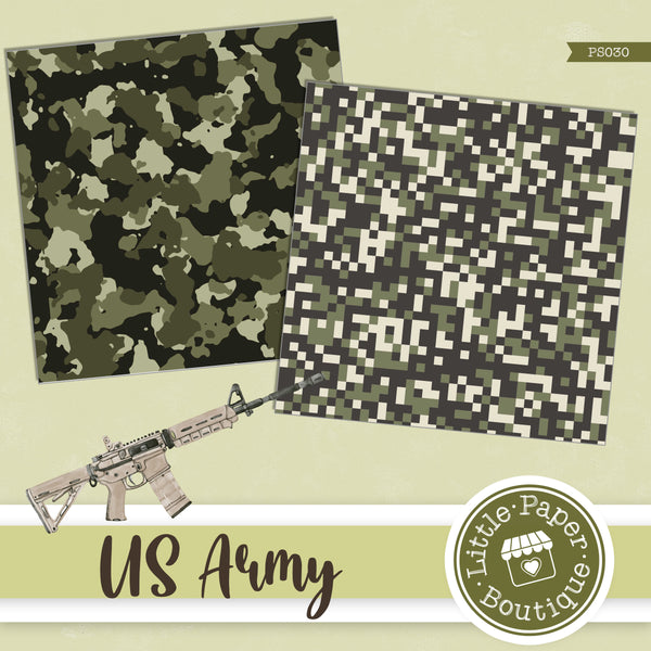 US Army Digital Paper PS030