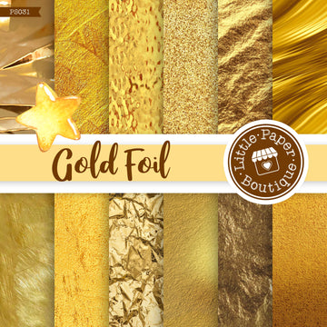 Gold Foil Digital Paper PS031