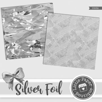 Silver Foil Digital Paper PS032