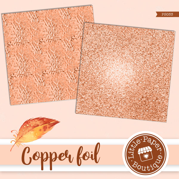 Copper Foil Digital Paper PS033