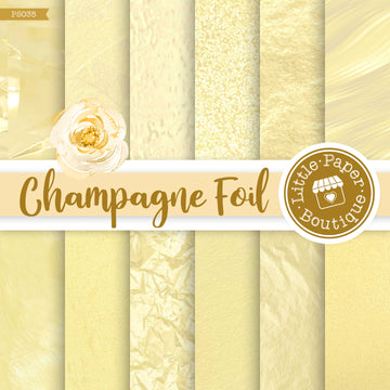 Champagne Foil Digital Paper PS035