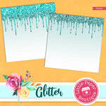 Dripping Glitter Digital Paper PS049