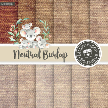 Natural Burlap Digital Paper RCS006