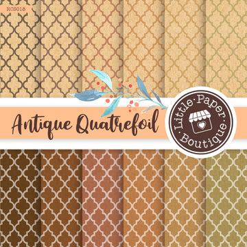 Antique Quatrefoil Digital Paper RCS018