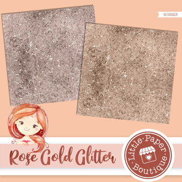 Rose Gold Glitter Digital Paper RCS023