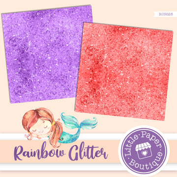 Rainbow Glitter Digital Paper RCS025