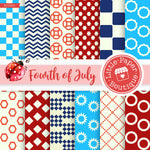 Fourth of July Digital Paper RCS031