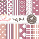 Dusty Pink Digital Paper RCS039