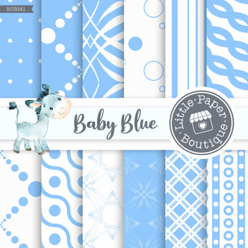 Baby Blue Digital Paper RCS041