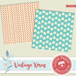 Vintage Christmas Digital Paper RCS049
