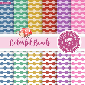 Colorful Beads Digital Paper RCS053