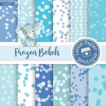 Frozen Bokeh Digital Paper RCS057