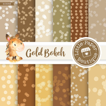 Gold Bokeh Digital Paper RCS058