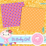 Its A Baby Girl Digital Paper RCS1007