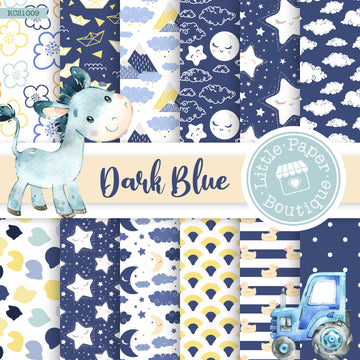 Dark Blue Digital Paper RCS1009