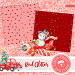 Red Glitter Digital Paper RCS1025