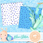 Blue Glitter Digital Paper RCS1026