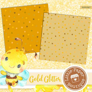 Gold Glitter Digital Paper RCS1027