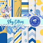 Sky Citrus Digital Paper RCS105