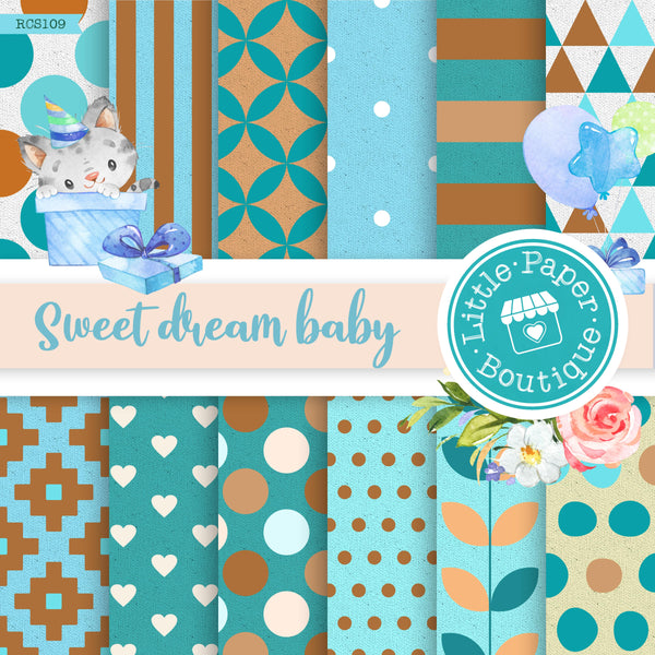 Sweet Dream Baby Digital Paper RCS109