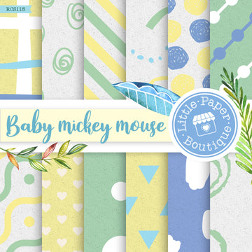 Baby Mickey Mouse Digital Paper RCS115