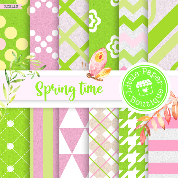 Spring Time Digital Paper RCS123