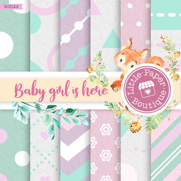 Baby Girl is Here Digital Paper RCS124