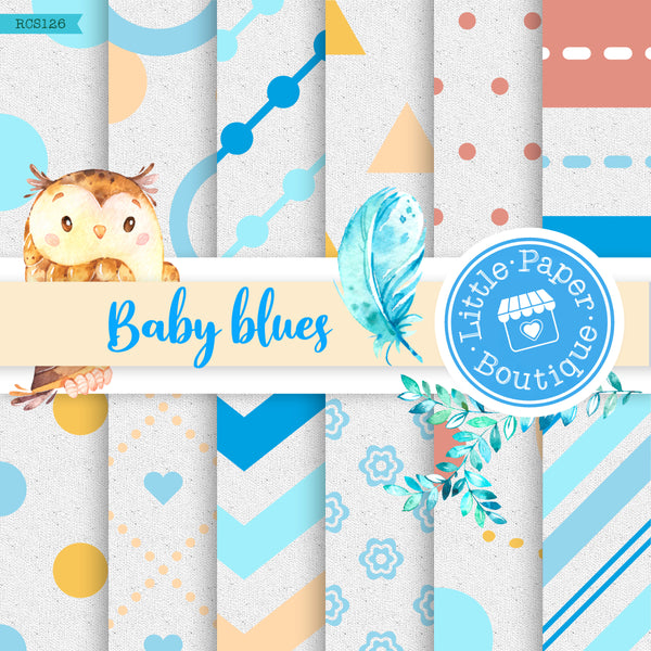 Baby Blues Digital Paper RCS126