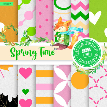 Spring Time Digital Paper RCS137