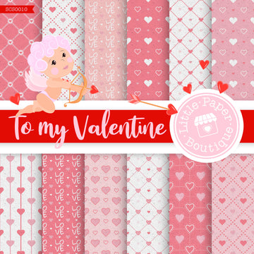 To My Valentine Seamless Digital Paper SCS0010