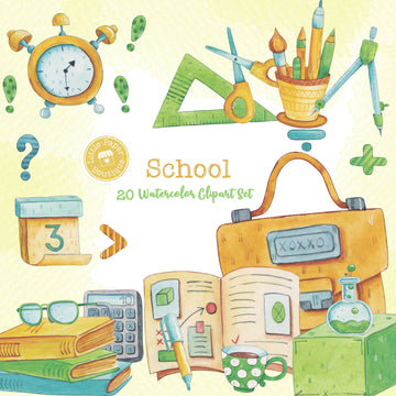 School Digital Clipart CA015