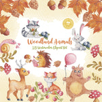 Woodland Animals Digital Clipart CA005