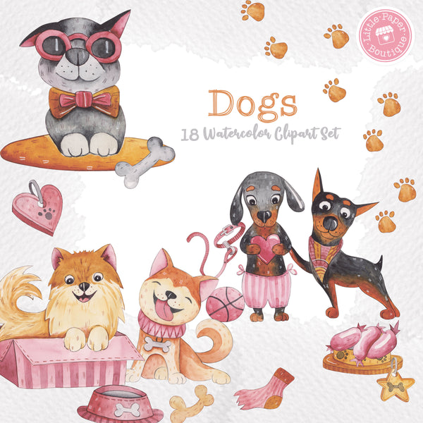 Dogs Digital Clipart CA012