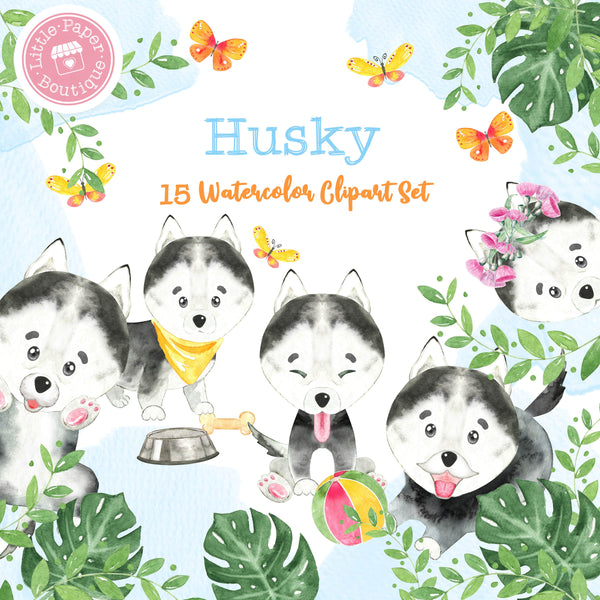 Husky Digital Clipart CA101
