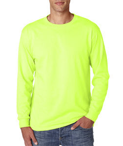 Jerzees 29LS long sleeve tee shirt, 50/50, 5.6 oz, S-3XL