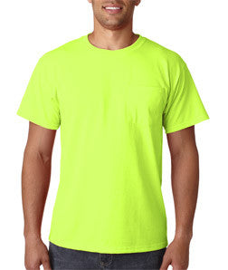 Jerzees 29MP pocket tee, 50/50, 5.6 oz, S-3XL