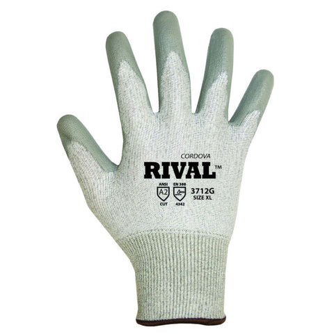 Cordova Glove 3712 ANSI Cut Level 3 Polyurethane Glove, Small - 2XL (By the dozen only)