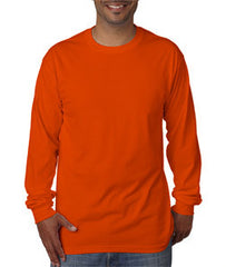 Bayside 5060 long sleeve tee shirt, 100% preshrunk cotton, 5.4 oz, S-3XL, Made in USA