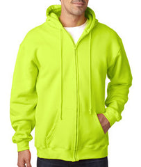 Bayside 900 full zip hoodie, 80/20, 9.5 oz, S-3XL, Made in USA